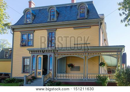 A Yellow Victorian Two Story in Charlottetown