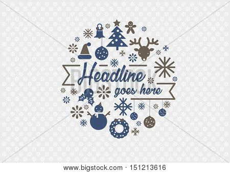 Vector of stylized Christmas element and background