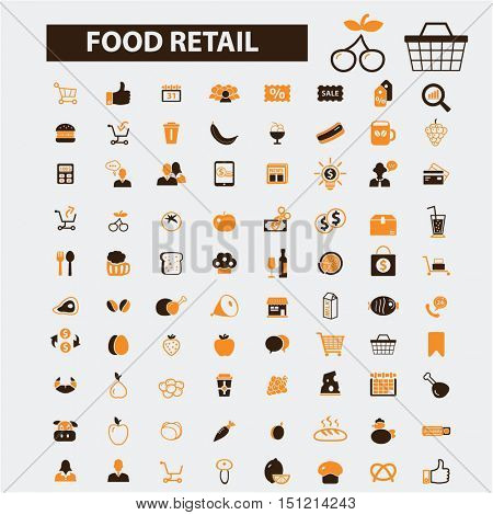 food retail icons