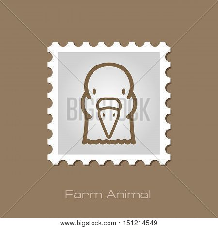 Dove outline stamp. Animal head vector symbol eps 10