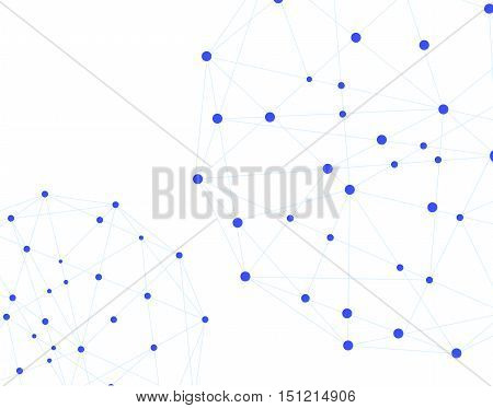 Simple network multi point connection background in vector format