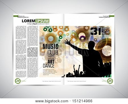 Design layout for magazine or brochure, vector