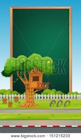Board design with park background illustration