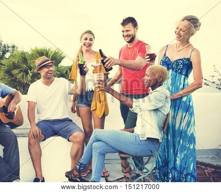 Group Of People Together Concept