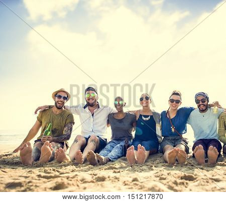 Group Of People Hugging Concept