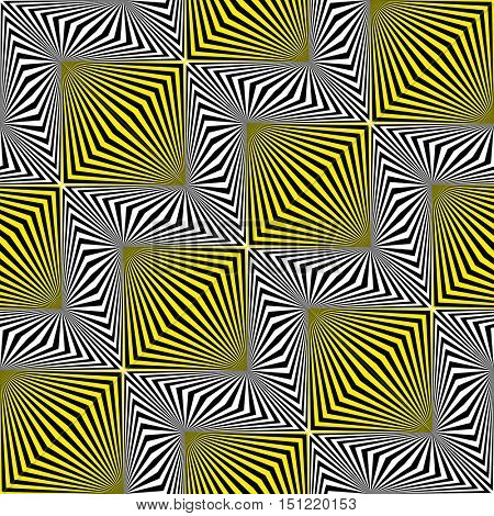 Seamless Square and Stripe Pattern. Abstract Wrapping Background. Vector Regular Texture