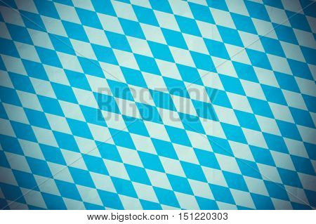 Bavarian diamond flag as background old blurred effect