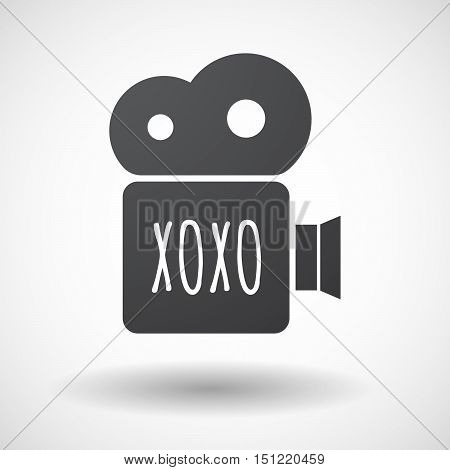 Isolated Film Camera Icon With    The Text Xoxo