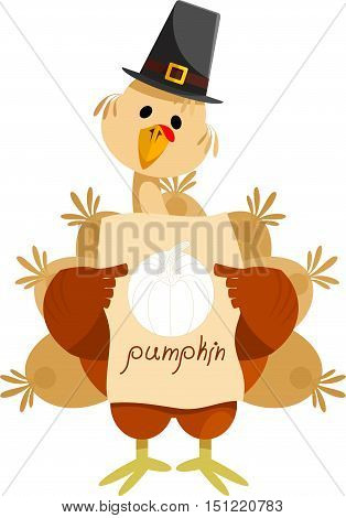 Turkey with the image of a pumpkin