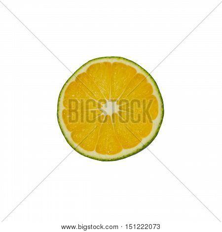 sweety slice isolated on white background closeup