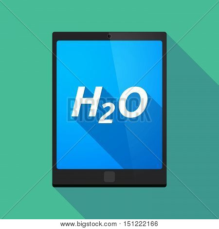 Long Shadow Tablet Pc With    The Text H2O