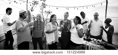 Group Of People Party Concept
