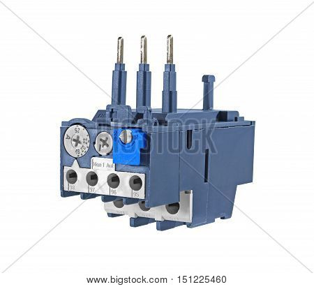 Electrical Overload Relay isolated on white background