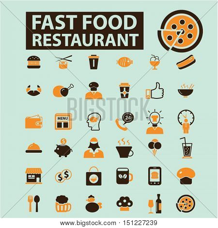 fast food restaurant icons