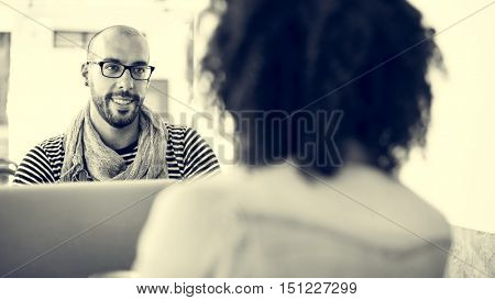 African Descent Team Communication Meeting Concept