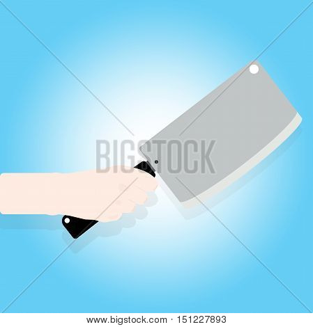 Man Holding A Knife In Hand.