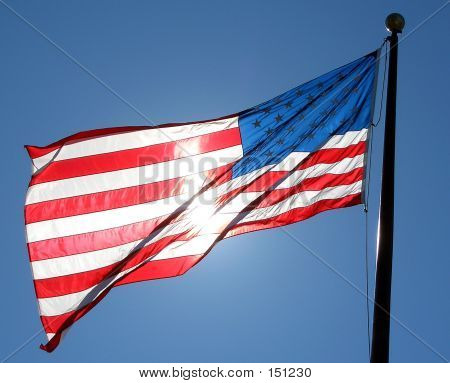 Patriotic American Flag Shining