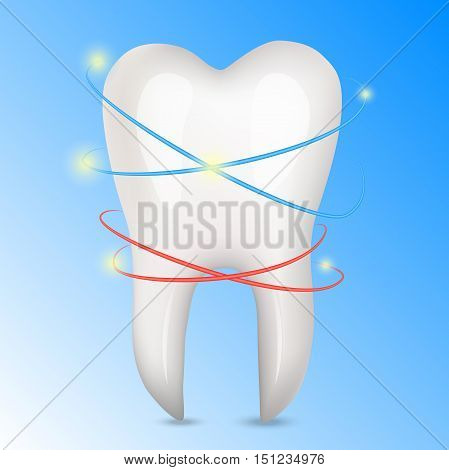 Very high quality original trendy realistic vector human tooth illustration.