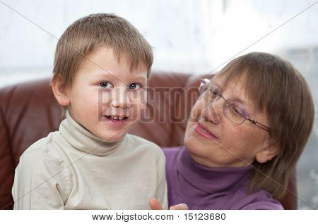 Grandon With His Granny