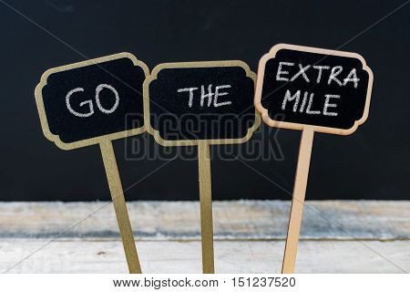 Business Message Go The Extra Mile