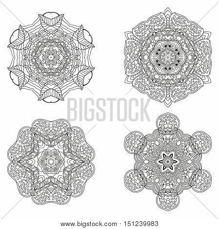 Set Of Mandalas. Vector Mandala Collection For Your Design.