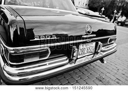 Tarnopol, Ukraine - October 09, 2016: Classic Retro Car Mercedes-benz 280 S (w108), Luxury Cars Prod