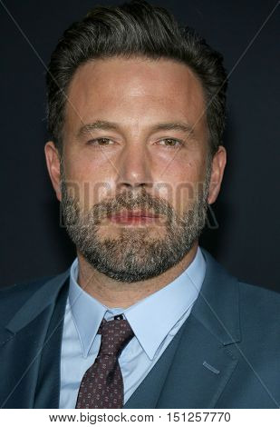 Ben Affleck at the Los Angeles premiere of 'The Accountant' held at the TCL Chinese Theater in Hollywood, USA on October 10, 2016.