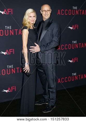 Brooke Burns and Gavin O'Connor at the Los Angeles premiere of 'The Accountant' held at the TCL Chinese Theater in Hollywood, USA on October 10, 2016.