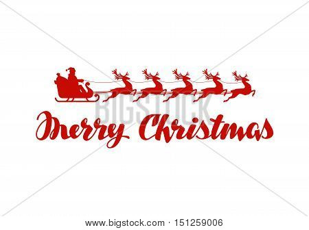 Merry Christmas banner. Vector illustration isolated on white background