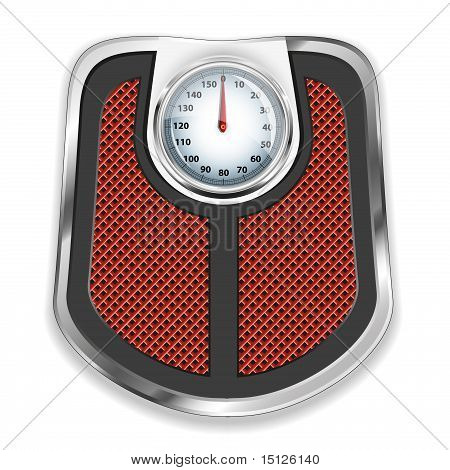 Bathroom scale. Vector illustration.