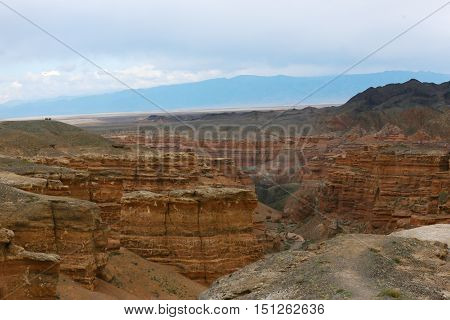 Nature, landscape, species, landscape, canyon clay, clay, places, reserve, Charyn canyon, a geological section, Kazakhstan