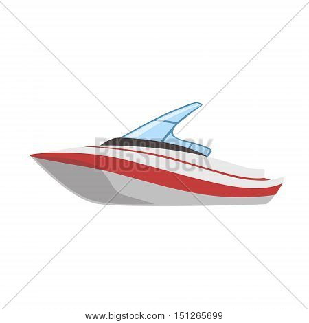Modern Cutter Type Of Boat Icon. Simple Vector Illustration Isolated On White Background