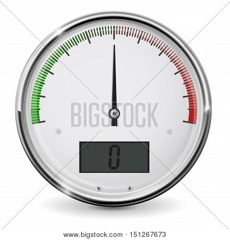 Universal semi-circle gauge scale. Vector illustration isolated on white background