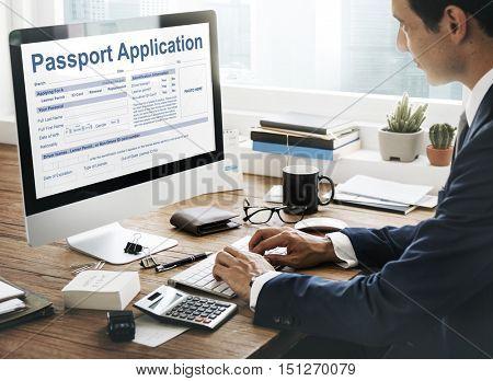 Passport Application Emigration National Border Concept