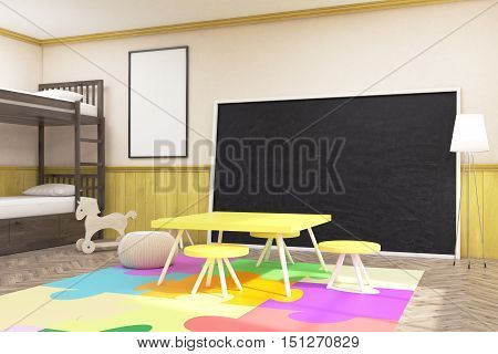 Large Blackboard In Children's Room