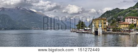 Like Como Italy 24 april 2014 Spring landscape on Lake Como Like Como Italy 24 april 2014
