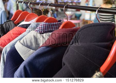 clothing on holders
