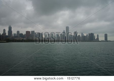 Chicago On Overcast Day