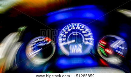 Odometer dashboard console abstract blur zoom.