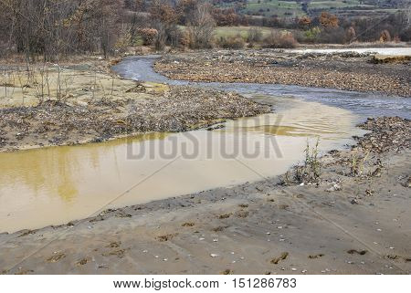 Contaminated water due to industrial pollution Bor