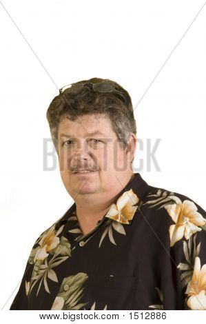 Man In Hawaiin Shirt