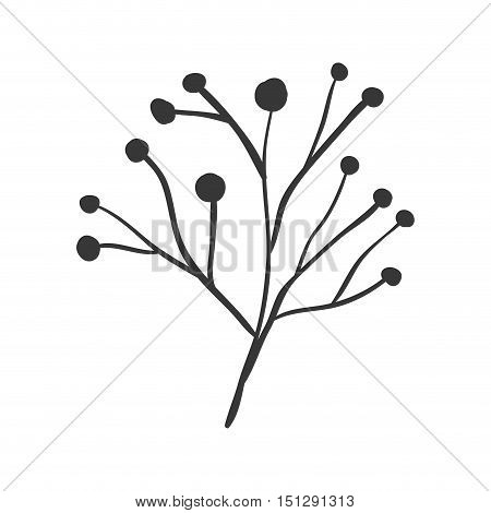 ramifications tree with stem and branches vector illustration
