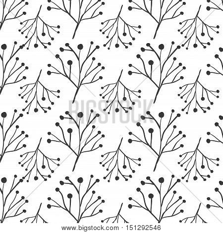 pattern ramifications tree with stem and branches vector illustration