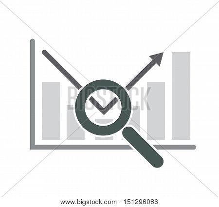 inspect trend finance concept vector abstract illustration