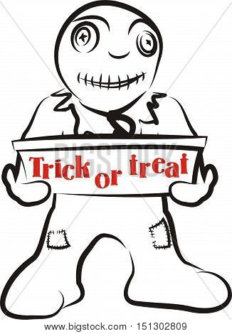 trick or treat - happy halloween with monster