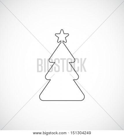 christmas tree outline icon