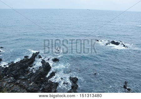 The seaside scenery in the morning, Jeju, Korea