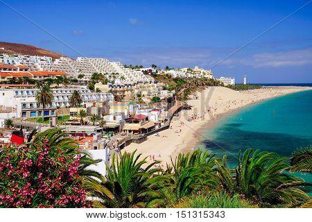 Playa de Morro Jable. Morro Jable - Fuerteventura - Spain - 25.30.2016