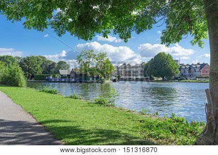 The River Thames at Caversham in Berkshire