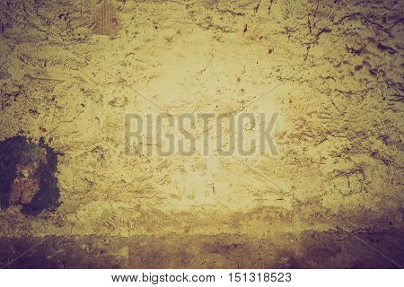 Vintage Photo Of Old Destroyed Concrete Wall